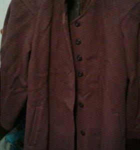 Пальто бордо52-54