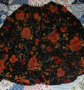 Винтажная юбка, сшитая вручную
