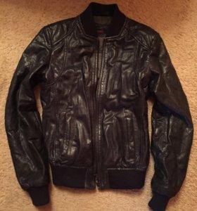 Новая утеплённая кожаная куртка, 42 раз-р