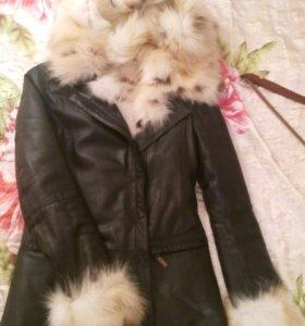 Куртка кожаная дубленка