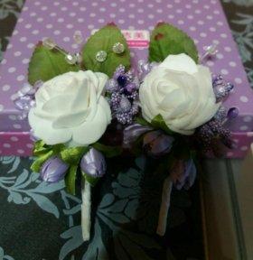 Свадебные бутаньерки