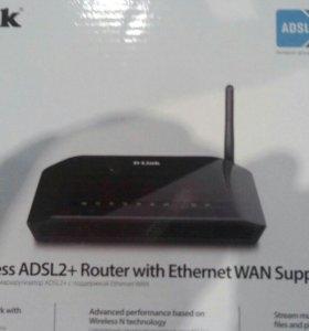 Беспроводной маршрутирзатор ADSL2+ с enternet WAN
