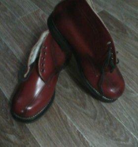 Ретро ботинки, кожа натуральная 41р.