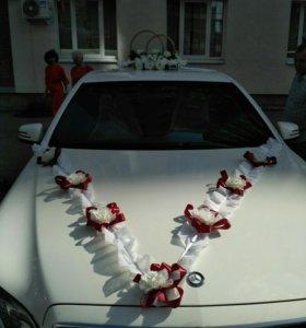 Украшение для машины на свадьбу в АРЕНДУ