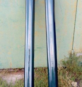 Комплект накладок на пороги и двери Ауди 100/А6