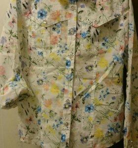 Блузка -рубашка для девочки, р.140