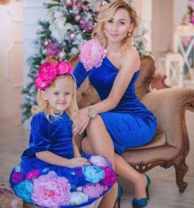Платье мама и дочь