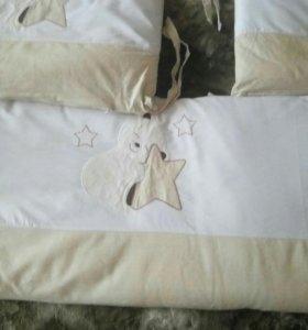 Борта для детской кроватки с балдахином