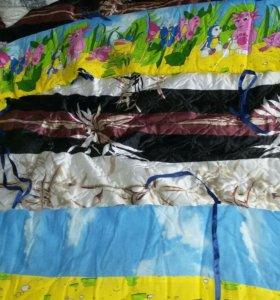 Бортик в кроватку в подарок такой же расцветки под
