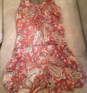 Платье шелковое Massimo Dutti
