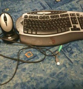 Игровая клавиатура и мышь Microsoft