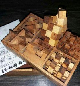 6 мини головоломок в коробке