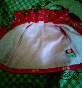 Курточка ветровка с подкладкой для девочки