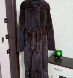 Шикарная норковая шуба халат