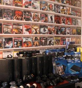 Приставки PS3, Xbox360, аксессуары (гарантия)