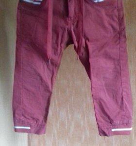 Детские штаны вишнёвого цвета