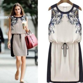 Красивое шифоновое платье