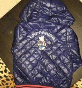 Детская куртка на мальчика размер 98