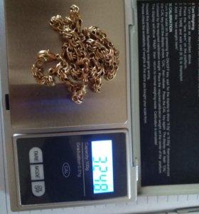 Золотой Браслет и цепочка(комплект)