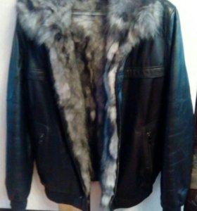 Куртка с писцовым мехом