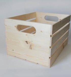 Деревянный ящик 26,5-34,5-45