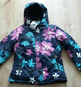 Новая зимняя куртка до -30 градусов рост 128-134