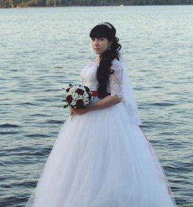 Красивое.,пышное свадебное платье 😊