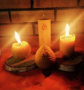 Свечи из натуральной вощины