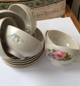 Посуда (чашка+блюдце)