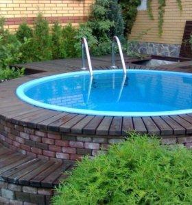 Ёмкость для воды 4 куба Чаша бассейна 4000 литров