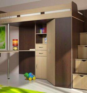 Кровать-чердак Мийа. Мебель для детской