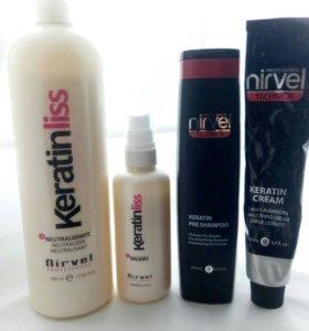 Набор для кератинового выпрямления волос nirvel