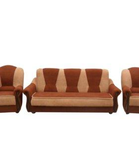 """0327 комплект """"Венера"""" диван-книжка и 2 кресла"""