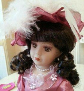 Кукла керамическая. 30 см, коробка
