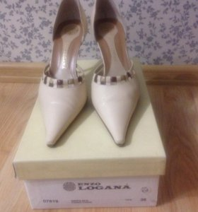 Туфли кожаные Италия Enzo Logana
