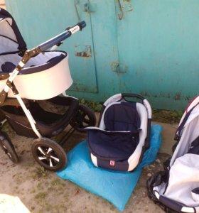 Детская коляска прогулочная 3 в 1