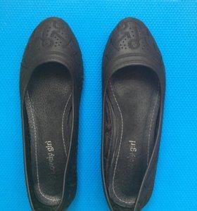 Балетки чёрные, 37 размер