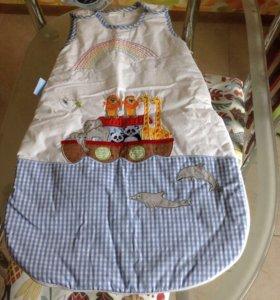Новый зимний детский спальный мешок 0-6 м