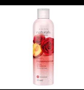 Гель для душа бархатиста Роза и персик освежающий