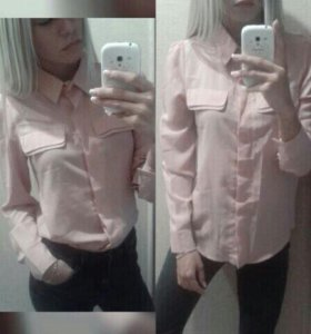 Светло-розовая рубашка (40-42)