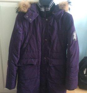 Зимнее пальто(натуральный мех)