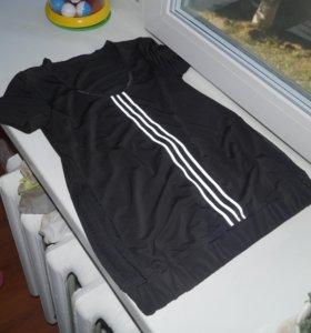 футболка на резинке в низу