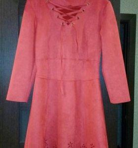 Платье,на рост не более 157см,короткое