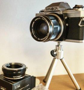 Minolta MC Rokkor 2.8 f35mm объектив с переходнико