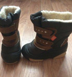Зимние ботинки на натуральной овчине Demar 24-25р