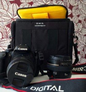 Фотоаппарат Canon650D+2 объектива+сумка+флешка