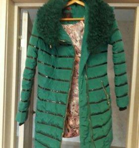 Очень тёплая удлинённая куртка
