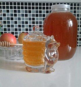 Мёд со своей пасеки цена указана за 3 л