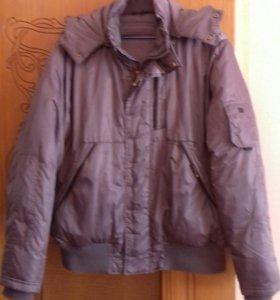 Куртка с капюшоном зимняя - пуховик
