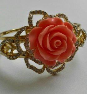 Новый браслет с розой